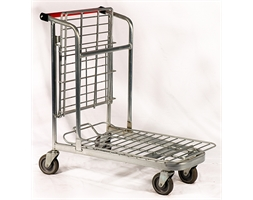 Two Tier Trolley Tilt Top Basket