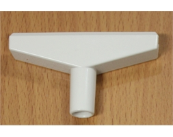 90MM T PIECE - WHITE
