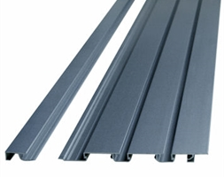 5m Top Cap Aluminium for 25+50+75mm Slat Panel Ano