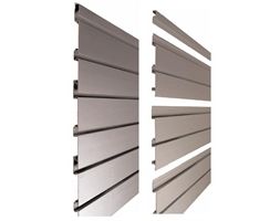 5m x 075mm All Aluminium Slat Panel Ano