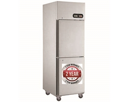 500L  TROPICAL Thermaster 2 x half doors SS Fridge