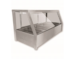 Heated Wet 6 x Half Pan Bain Marie Angled Countertop Display