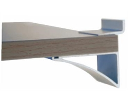 50mm Alu Shelf Brkt Anodized 16-18mm Melamine