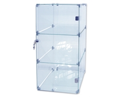 3 Level Cube Unit Glass Only Connectors Pack Sold Separately