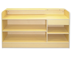 Display Counter Timber Ledge top Flat Packed 1800mm Maple