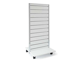 0600w x 1400mm High Double Sided White on Base/Castors