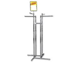 Display Rack 4 Way 4 Straight Arms