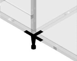 Adjustable Leg with Fixing Plate T Shape