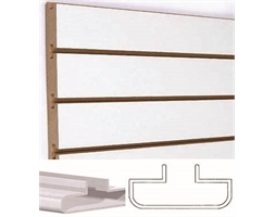 Slat Grooved-PLAIN WHITE 200mm Spacings Inc Extrusions