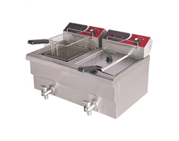 10 Amp Double Benchtop Electric Fryer