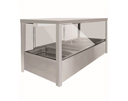 Heated Wet 8 x Half Pan Bain Marie Square Countertop Display