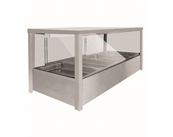 Heated Wet 10 x Half Pan Bain Marie Square Countertop Display