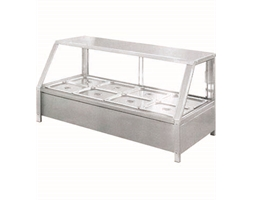 Heated Wet 10 x Half Pans Angled Bain Marie Countertop Display