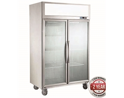 1200 Double Door Upright Display Fridge