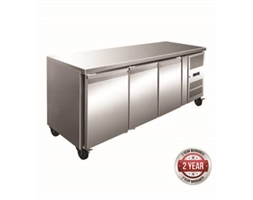 TROPICALISED 3 Door Gastronorm Bench Fridge
