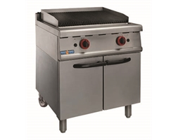 LPG Gas Char Grill On Cabinet