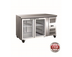 2 Glass Door Gastronorm Bench Fridge