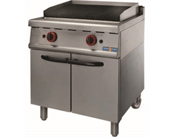 Natural Gas Char Grill On Cabinet