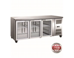 3 Glass Door Gastronorm Bench Fridge