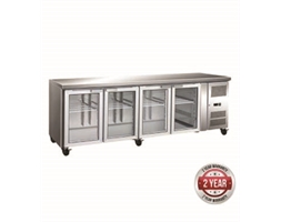 4 Glass Door Gastronorm Bench Fridge