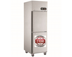 600L TROPICAL Thermaster 2 x half doors SS Fridge