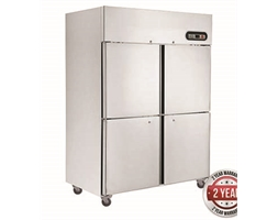 1000L TROPICAL Thermaster 4 x half doors SS Fridge