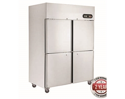 1200L TROPICAL Thermaster 4 x half doors SS Fridge