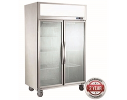 1000 Double Door Upright Display Fridge