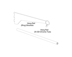 300mm Straight Brkt with Ring for pole 25mm P-Coat