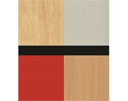 Bulk Pack Slat-wall Panels OLYMPIA RED