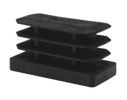Plastic Tube Caps (Black)