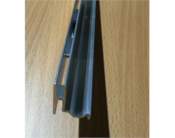 40mm Pitch End Single Slot Sculptured Mill Finish
