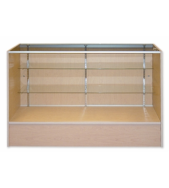 Display Counter Timber and Glass 1500mm White