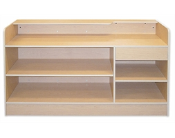 Display Counter Timber Ledge top Flat Packed 1800mm White