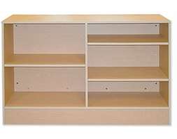 Display Counter Timber Wrap Flat Packed 1500mm White