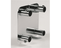 Square Wall Plate Tube Chrome