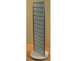 Revolving Display Unit White 400w x 1300mm H & Base 450mm Dia