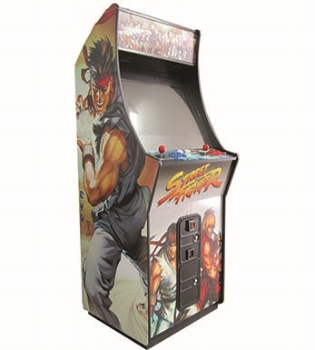 BIG BOY UPRIGHT & 1496 GAMES + Decal Sides = Street Fighter