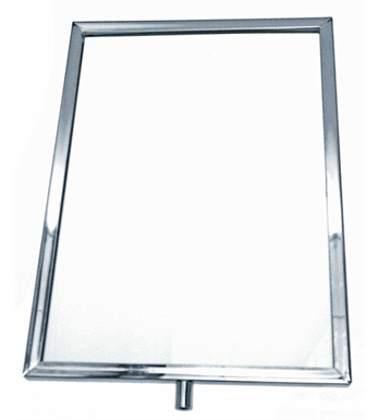 A4 Portrait Ticket Frame Chrome