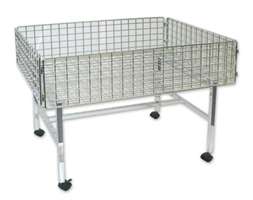 Dump Table Chrome Wire 850h x 1000w x 700mm deep