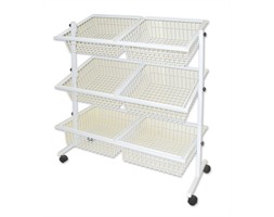 Basket x 6 Impulse Stand White