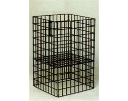 Collapsible Basket Mobile Base Black