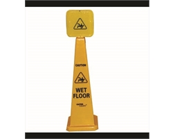 Wet Floor Cone With Sign Yellow
