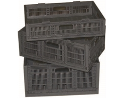 Collapsible Crate 600x400x127mm Black