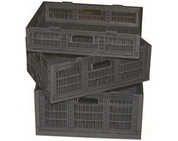 Collapsible Crate 530x355x275mm Black