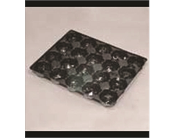 Fruit Tray Liner 20 Pocket Black