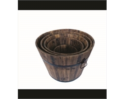 Wooden Barrel Large 370 x 450 x 320