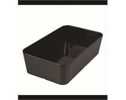Straight Sided Rect Bowl Black 250x150