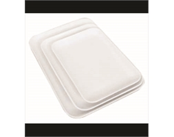 Rect Platter Small White 250x175x20