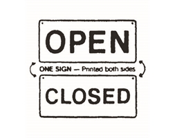 Open/Closed Sign Double Sided